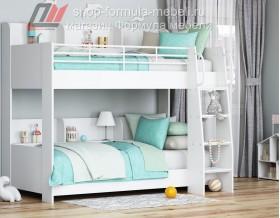 двухъярусная кровать Соня-5 лестница справа, цвет белый