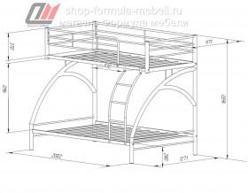 двухъярусная кровать Виньола 2 схема с размерами