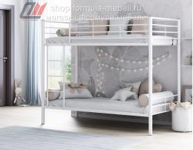 двухъярусная кровать Севилья-3 цвет белый, Формула мебели