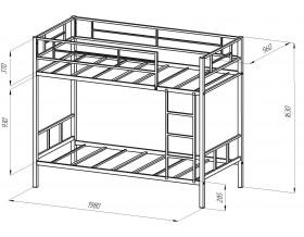 двухъярусная кровать Севилья-2 размеры