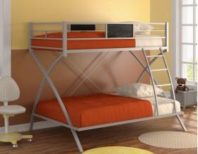 двухъярусная кровать Виньола цвет серый / венге