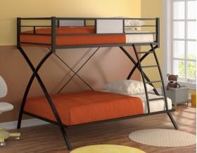 двухъярусная кровать Виньола цвет чёрный / дуб молочный