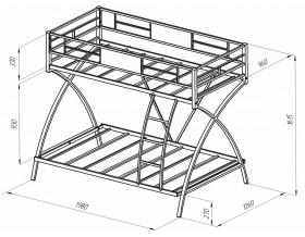 двухъярусная кровать Виньола размеры