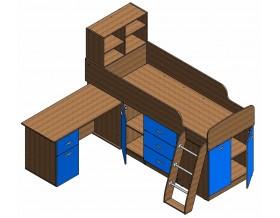 кровать чердак Дюймовочка-1 наполнение