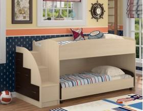 двухъярусная кровать Дюймовочка-4.2 цвет дуб молочный / венге