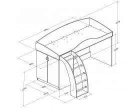 кровать-чердак Соня-1 размеры