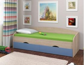 кровать Соня-2 дуб Сонома / голубой