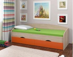 кровать Соня-2 дуб Сонома / оранжевый