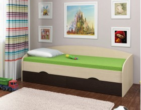 кровать Соня-2 дуб молочный / венге