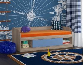 кровать Соня 4 дуб Сонома / голубой