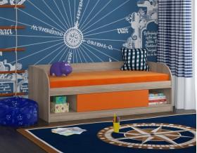 кровать Соня 4 дуб Сонома / оранжевый