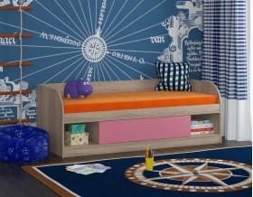 кровать Соня 4 дуб Сонома / розовый