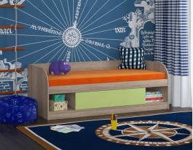 кровать Соня 4 дуб Сонома / салатовый
