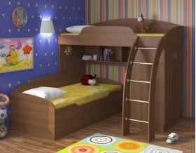 двухъярусная кровать Соня 1+2 орех / орех