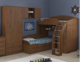 двухъярусная кровать Соня 1+2+3 орех