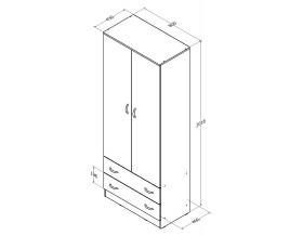 шкаф от Соня 3 размеры