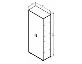 размеры Дельта-2 шкаф