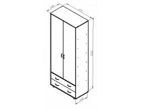 размеры Дельта-4 шкаф
