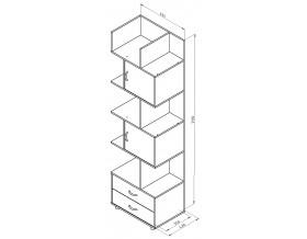 размеры Дельта-5.2 шкаф комбинированный