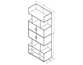размеры Дельта-5.3 шкаф комбинированный