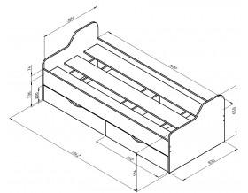 размеры кровать Дельта 18.01