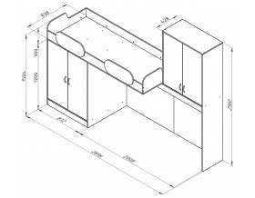 размеры кровать Дельта 18.04