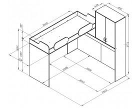 размеры кровать Дельта 18.05