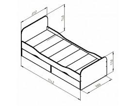 размеры кровать Дельта 19