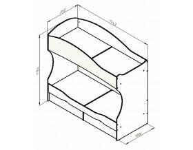 размеры кровать Дельта 20