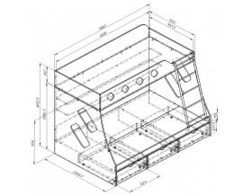 размеры кровать Дельта 20.01
