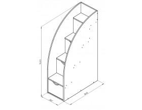 размеры Дельта-23 лестница 3
