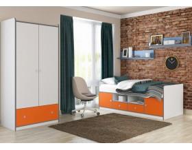 детская Дельта-Сильвер комплект №1 цвет белый / оранжевый