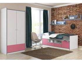 детская Дельта-Сильвер комплект №1 цвет белый / розовый