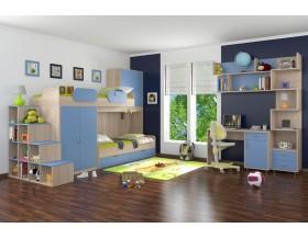 детская Дельта комплект №1 цвет дуб Сонома / голубой