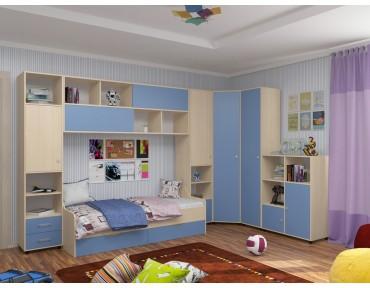 детская Дельта комплект №2 цвет дуб молочный / голубой