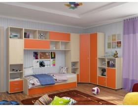 детская Дельта комплект №2 цвет дуб молочный / оранжевый