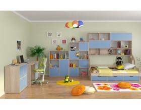 детская Дельта комплект №3 цвет дуб Сонома / голубой