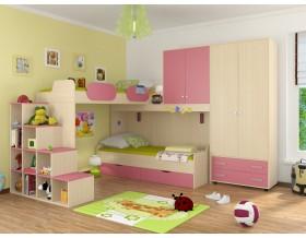 детская Дельта комплект №6 цвет дуб молочный / розовый