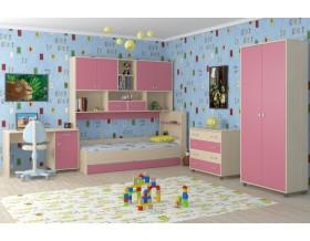 детская Дельта комплект №8 цвет дуб молочный / розовый