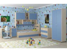 детская Дельта комплект №8 цвет дуб молочный / голубой
