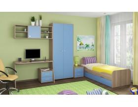 детская Дельта комплект №10 цвет дуб Сонома / голубой