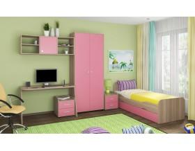 детская Дельта комплект №10 цвет дуб Сонома / розовый