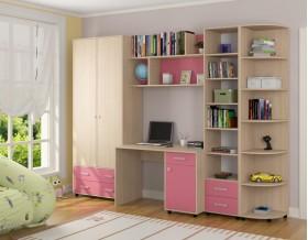 детская Дельта комплект №11 цвет дуб молочный / розовый