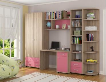 детская Дельта комплект №11 цвет дуб Сонома / розовый