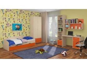 детская Дельта комплект №12 цвет дуб молочный / оранжевый