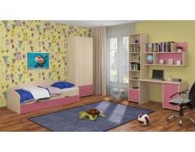 детская Дельта комплект №12 цвет дуб молочный / розовый