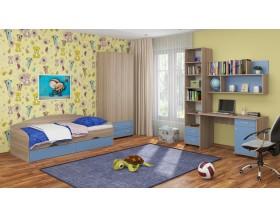 детская Дельта комплект №12 цвет дуб Сонома / голубой