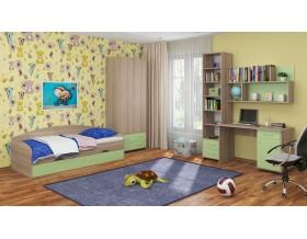 детская Дельта комплект №12 цвет дуб Сонома / салатовый