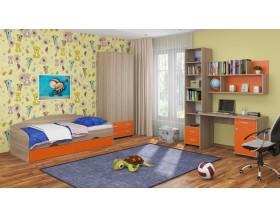 детская Дельта комплект №12 цвет дуб Сонома / оранжевый