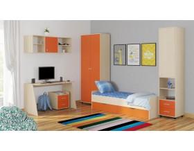 детская Дельта комплект №13 цвет дуб молочный / оранжевый